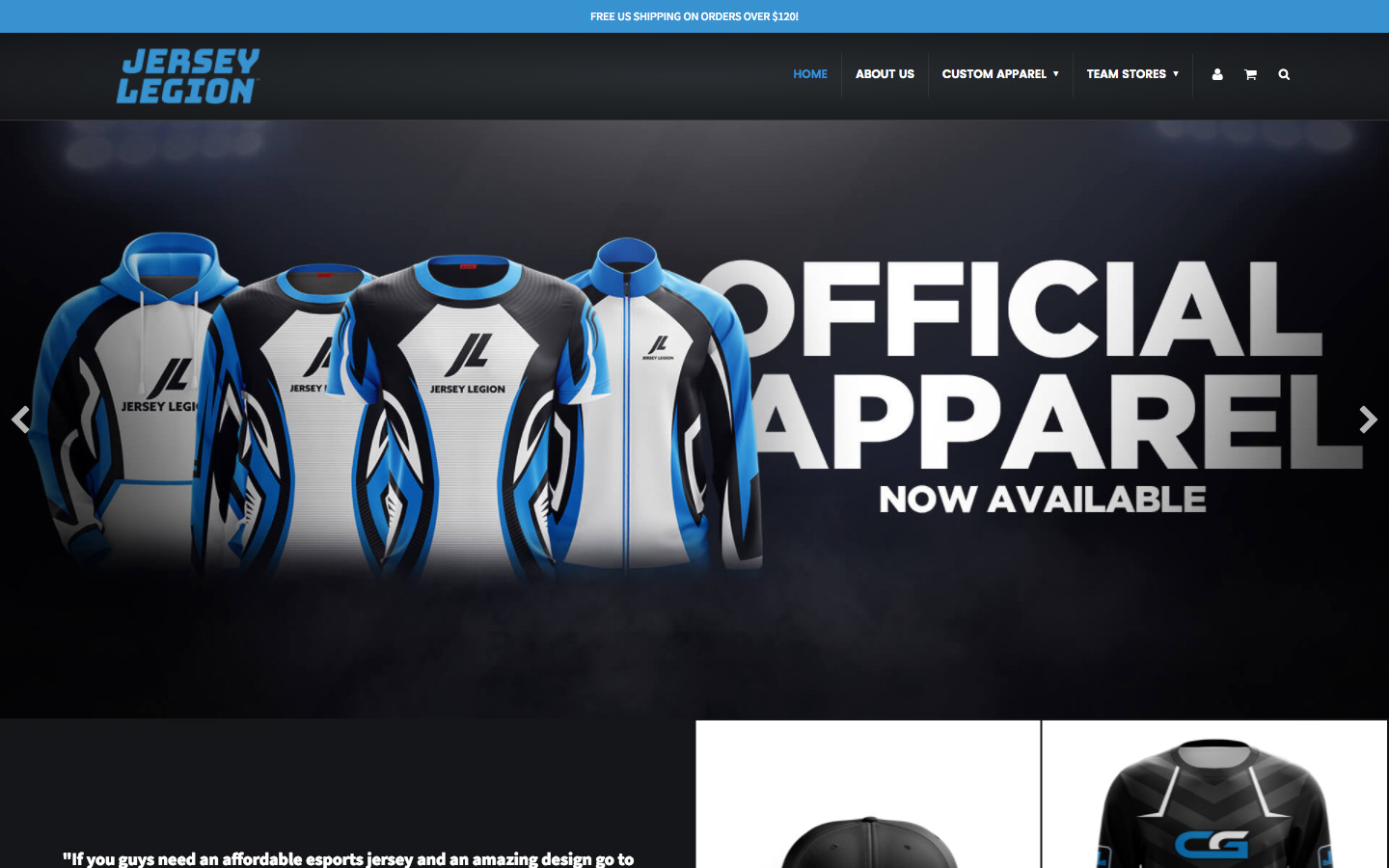 Web Design for JerseyLegion