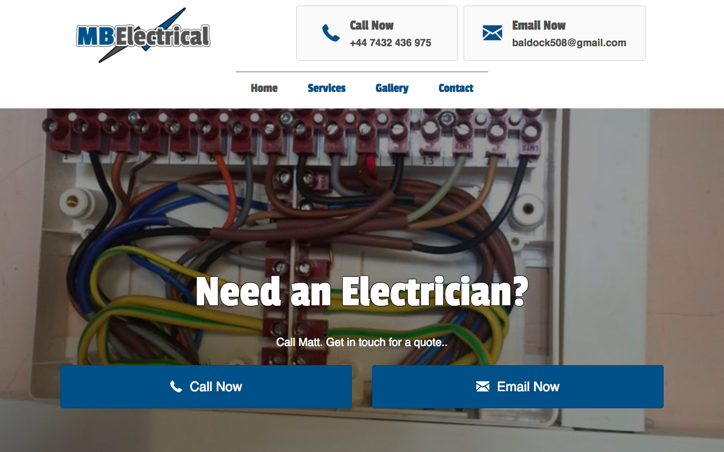 Web Design for Great Yarmouth based MB Electrical