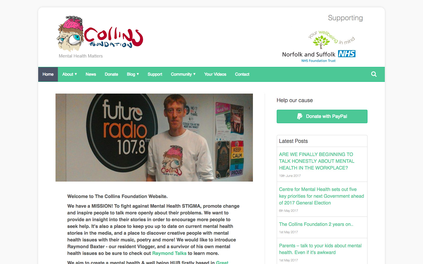Web Hosting & Design for The Collins Foundation