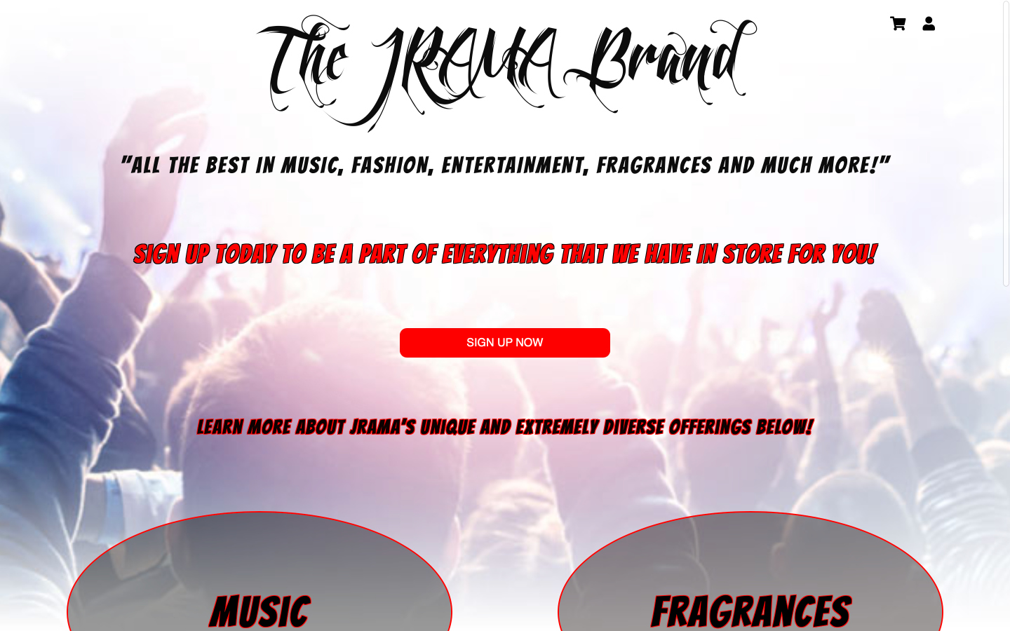 Website Hosting for The JRAMA Brand